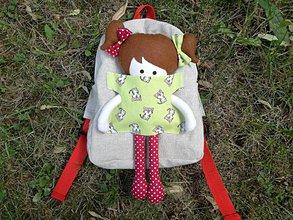Batohy - Batoh s bábikou -  mačičkový - 9630294_