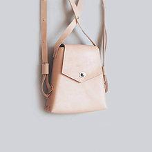 Batohy - Kožený batoh, elegantný dámsky ruksak - 9631349_