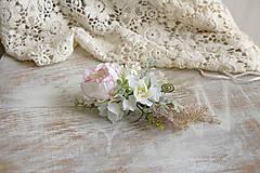 Ozdoby do vlasov - kvetinový hrebienok ,,ruža,, - 9631639_