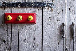 Nábytok - Věšák malý - červený - 9632679_