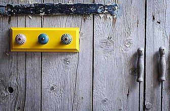 Nábytok - Věšák malý - žlutý - 9632817_