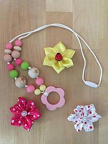 Detské doplnky - Kojací náhrdelník KVET - 9632505_
