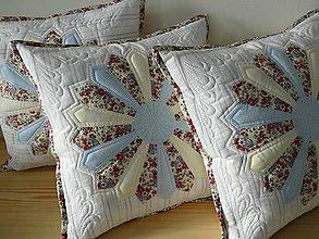 Úžitkový textil - Vankúše do modra - 9631960_