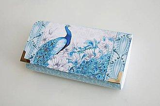Peňaženky - S krásou páva - 17 cm, na spoustu karet - 9632623_