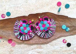 Náušnice - Flamenco srdiečkove nausnicky - 9631495_