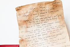 Papiernictvo - Svadobný sľub - pergamen - 9631172_