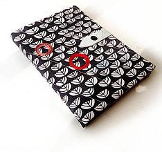Papiernictvo - Zápisník Modrá s grafickými kvetmi - A5 - 9631592_