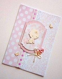 Papiernictvo - blahoželanie k narodeniu dieťatka - 9630408_