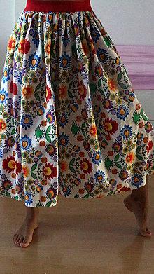 Sukne - sukňa - na ľudovú nôtu - 9630087_