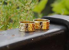 Prstene - Zlaté obrúčky kvet života - 9633028_