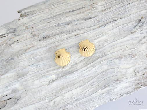 6870a3d01 585 zlaté pecky Mušličky / soamijewelry - SAShE.sk - Handmade Náušnice