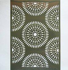 Pomôcky/Nástroje - Šablóna - 20x30 cm - etno, kruhy, mandala, indiánske vzory - 9633797_