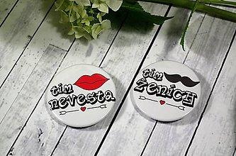 Odznaky/Brošne - Svadobní hostia I. odznaky - 9634123_