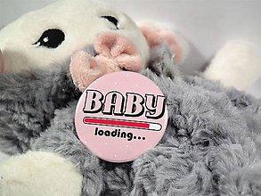 Odznaky/Brošne - Baby loading odznak - 9634219_