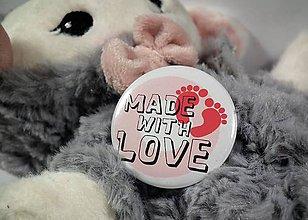 Odznaky/Brošne - Made with love odznak - 9634230_