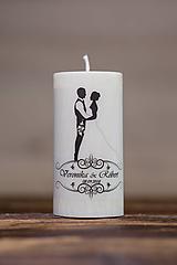 Sviečka pre mladomanželov v darčekovej krabičke - Manželský pár 1
