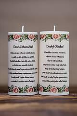 Poďakovanie svadobným rodičom - Vzor č.1- Sviečka z palmového vosku