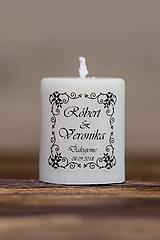 Menovka alebo darček pre svadobčanov - Sviečka - Vzor č.33