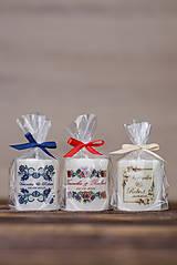 Darčeky pre svadobčanov - Menovka alebo darček pre svadobčanov - Sviečka - Vzor č.38 - 9633555_