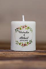Darčeky pre svadobčanov - Menovka alebo darček pre svadobčanov - Sviečka - Vzor č.4 - 9633967_