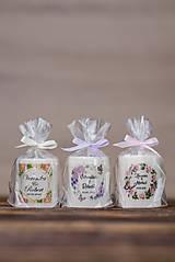 Darčeky pre svadobčanov - Menovka alebo darček pre svadobčanov - Sviečka - Vzor č.12 - 9635401_
