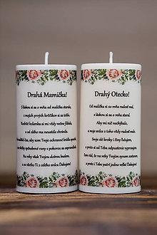 Darčeky pre svadobčanov - Poďakovanie svadobným rodičom - Vzor č.1- Sviečka z palmového vosku - 9633106_