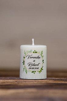 Darčeky pre svadobčanov - Menovka alebo darček pre svadobčanov - Sviečka - Vzor č.25 - 9633431_