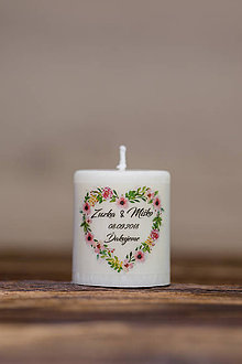 Darčeky pre svadobčanov - Menovka alebo darček pre svadobčanov - Sviečka - Vzor č.34 - 9633467_