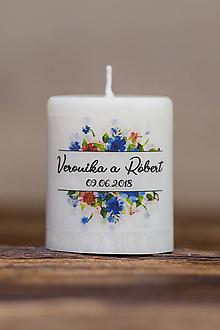 Darčeky pre svadobčanov - Menovka alebo darček pre svadobčanov - Sviečka - Vzor č.44 - 9633496_