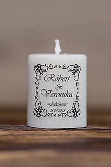 Darčeky pre svadobčanov - Menovka alebo darček pre svadobčanov - Sviečka - Vzor č.33 - 9633526_