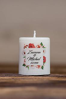 Darčeky pre svadobčanov - Menovka alebo darček pre svadobčanov - Sviečka - Vzor č.57 - 9633558_