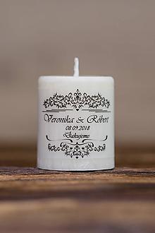Darčeky pre svadobčanov - Menovka alebo darček pre svadobčanov - Sviečka - Vzor č.7 - 9633645_
