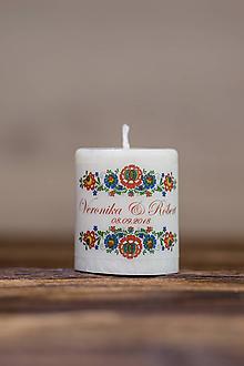 Darčeky pre svadobčanov - Menovka alebo darček pre svadobčanov - Sviečka - Vzor č.16 - 9634995_