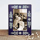 Rámiky - Maľovaný rámček - Blue Folk - 9634479_