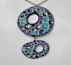 Náhrdelníky - Keramický šperk - dvojdielny - 9634569_