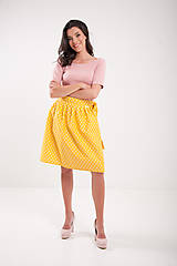 Sukne - Zavinovacia sukňa Retro žltá  - 9634861_