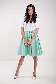 Sukne - Kruhová mint sukňa s vreckami Lovely - 9635499_
