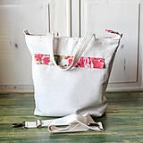 Veľké tašky - Šípová plátenná shopperka - 9633597_