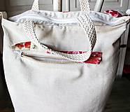 Veľké tašky - Šípová plátenná shopperka - 9633608_