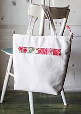Veľké tašky - Šípová plátenná shopperka - 9633609_