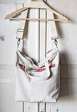 Veľké tašky - Šípová plátenná shopperka - 9633613_
