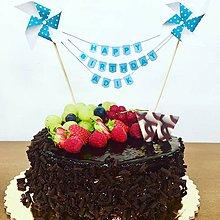 Dekorácie - Zápich na tortu girlanda - 9633387_