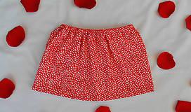 Detské oblečenie - Červená suknička - 9635513_