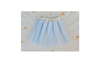 Detské oblečenie - Pásikavá sukňa s bodkami - 9635990_