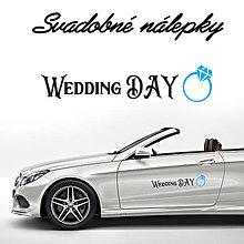 Darčeky pre svadobčanov - Svadobné nálepky na auto 16 - 9634204_