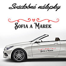 Darčeky pre svadobčanov - Svadobné nálepky na auto 17 - 9634290_