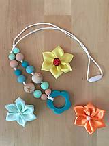 Náhrdelníky - Kojací náhrdelník KVET - 9633434_
