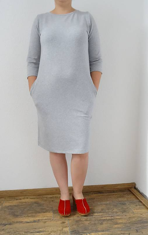 413b2c77da8b Teplákové šaty s vreckami   evafalcon - SAShE.sk - Handmade Šaty