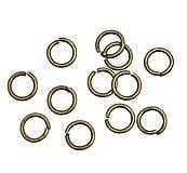 Komponenty - Bižutérne krúžky 5mm bronzové (balíček 50ks) - 9634660_