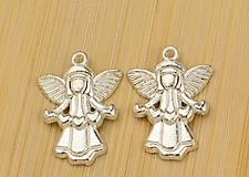 - Prívesok anjelik so srdiečkami - 9636037_